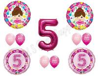 Ballerina 5th Birthday Party Balloons Decoration Supplies Second Tutu Fifth