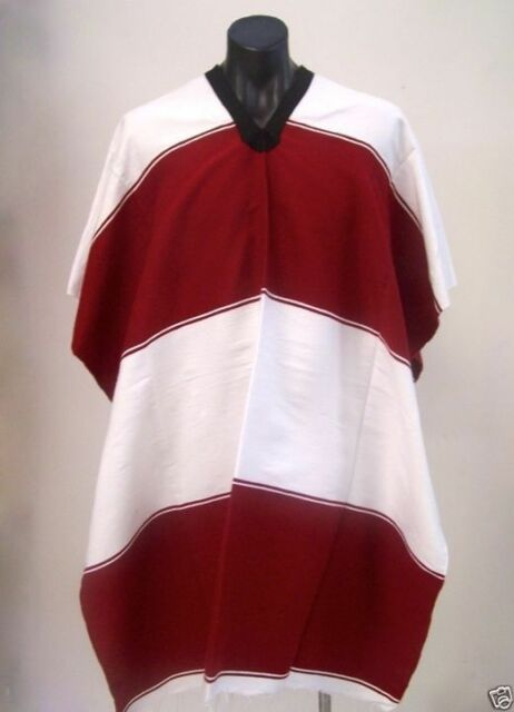 St Kilda Mexican Poncho Sport Team Maroon & White | Manly |  Great For Footy