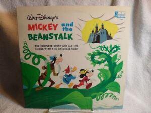 RARE-WALT-DISNEY-039-S-MICKEY-AND-THE-BEANSTALK-LP-1963-DISNEYLAND-RECORDS-NM