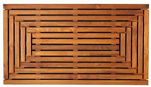 High Quality Giza Teak Floor Mat w  Naturally Mildew and Mold Resistant Surface