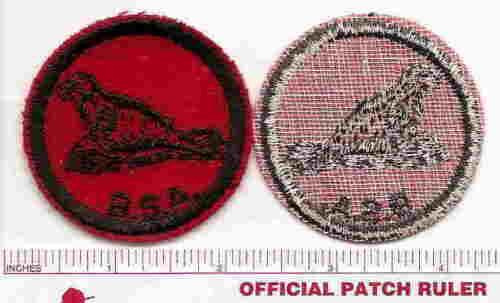 B /& W Threads Back 1940s Era SEAL Old BSA FELT Patrol Patch