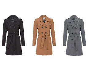 De-La-Creme-Womens-Trench-Mac-Double-Breasted-Coat-Ladies-Belted-Fashion-Jacket