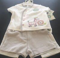 Little Me 3 Piece Set 3 Months Giraffe Lion Boy Or Girl Short Sleeve Pants