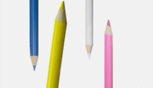 Dressmaking Chalk Pencils -  White Yellow Pink Blue Pencils