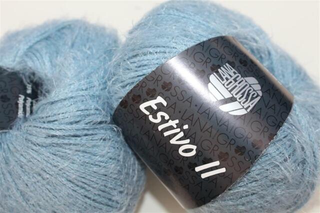 Wolle Kreativ Fb.18 hellblau 50 g Cool Cotton Lana Grossa