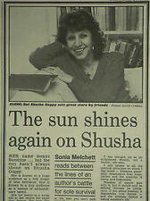 Shusha Guppy Interview 1989 1 Page Newspaper Article 7247