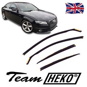 HEKO TINTED WIND DEFLECTORS for AUDI A4 B8 4-DOOR SALOON 2009-2015 4pc