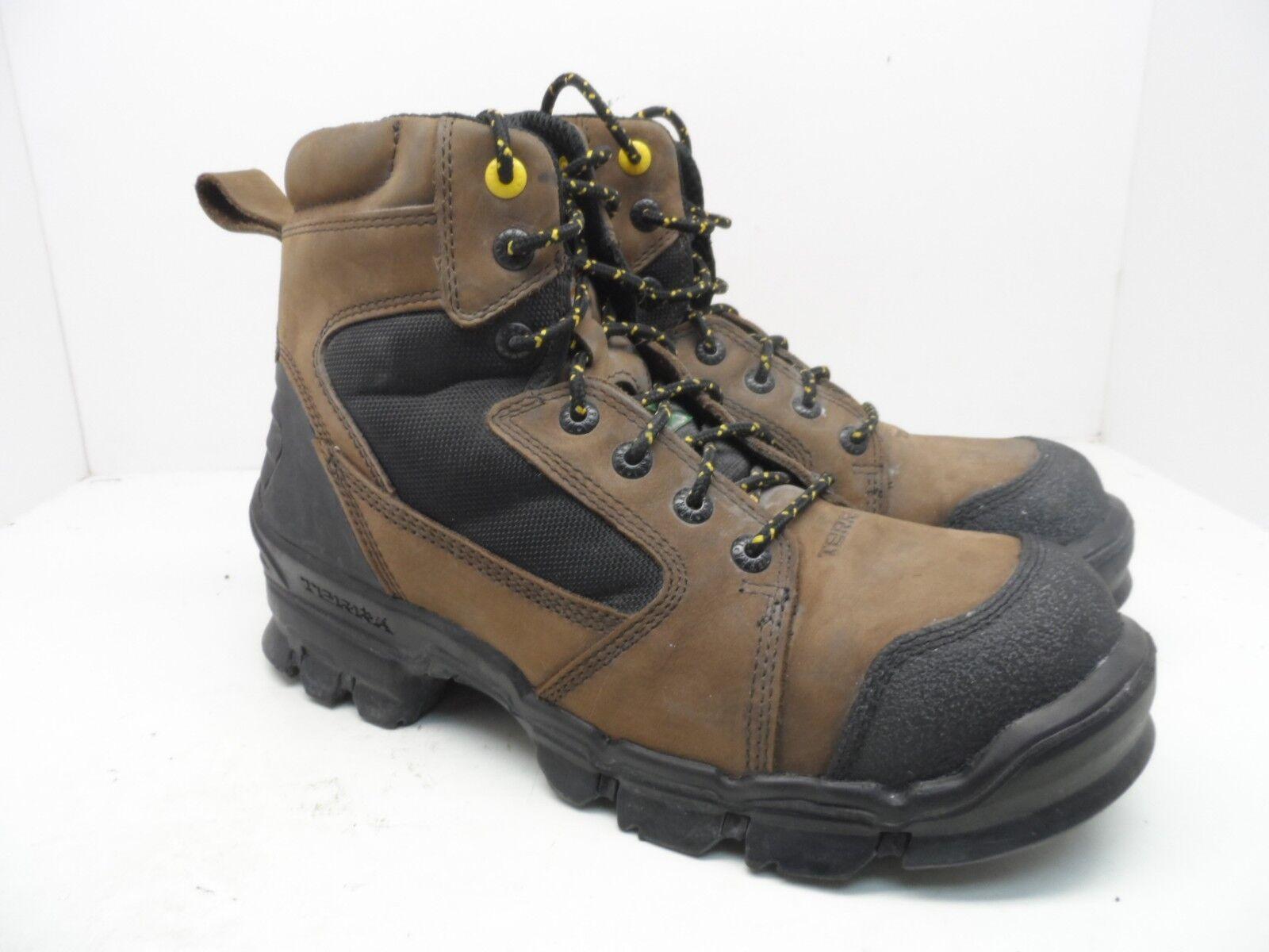 Terra Men's 6  Zephyr Composite Toe Work Boot Brown Size 10M