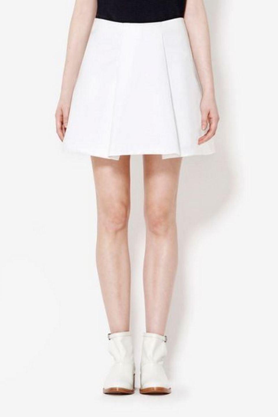 395 3.1 Phillip Lim Off White Cotton Blend Sculpted Flirty Flare Mini Skirt 00