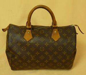 ec9e5982134df Das Bild wird geladen Louis-Vuitton-Handtasche-Speedy-30 -Monogram-Canvas-14871