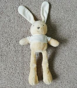 MARKS-amp-SPENCER-RABBIT-SOFT-PLUSH-TOY-COMFORTER-CREAM-BROWN-BUNNY-DOUDOU-M-amp-S