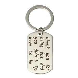 New-Thank-You-for-Being-The-Dad-You-Didn-039-t-Have-To-Be-Stainless-Letter-Key-ZYNFK