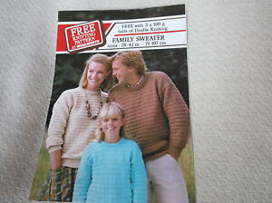 6e11bf323 VINTAGE ORIGINAL KNITTING PATTERN WOOLWORTH FAMILY SWEATERS 28 42034 -  Brixham