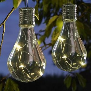 Image Is Loading 10 X Solar Powered Hanging Light Bulbs Solar