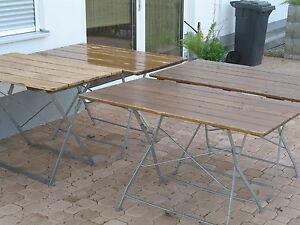 Original Alter Munchner Biergartentisch Klapptisch Gartentisch