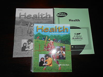Abeka Homeschooling HEALTH IN CHRISTIAN PERSPECTIVE teacher keys 8-12THGR