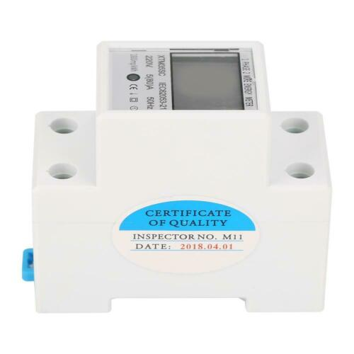2 Draht 2P DIN-Schiene KWh Meter LCD 220V Digitaler Stromzähler Zweidraht 1 Ph