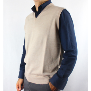 Vest Man United 80% Merino Wool Made in  M-3XL 5 Colours