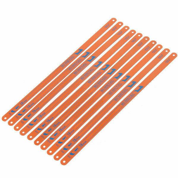 10Pcs 18 TPI Metal Hacksaw Blades 12x300mm Steel Cutting ...
