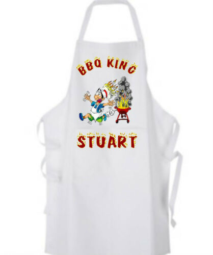 BBQ King Personalised Adults Apron and Chef/'s Hat Lovely Christmas GIFT BBQ Cook