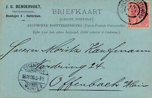 Carte-Perfore-Perfin-J-G-Zendervoet-Utrecht-Rotterdam-A-pour-Offenbach-Cover