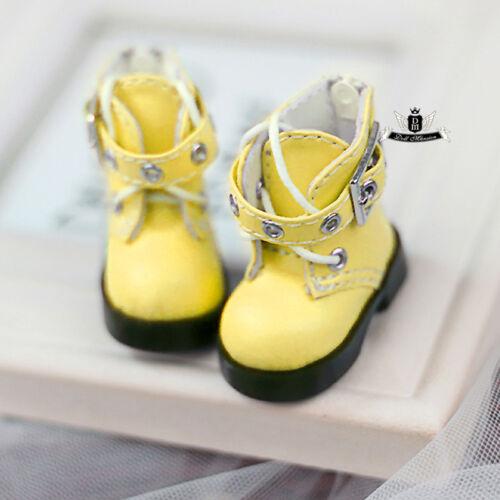 1//6 BJD Shoes Yosd Lolita Boots Dollfie DREAM AOD DZ DIM DOD LUTS Boots #Yellow