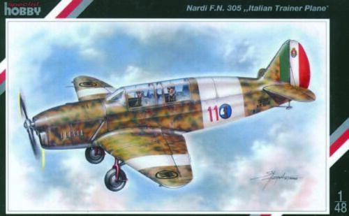 Special Hobby 100-SH48018-1:48 Nardi F.N 305 Italienisches Trainerflugzeug