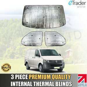 VW-T5-THERMAL-BLINDS-Internal-Interior-Blind-KIT-WINDSCREEN-COVER-3pc-QUALITY