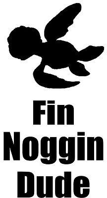 Custom Vinyl Car Decal Sticker Disney Fin Noggin Dude Finding Nemo Squirt Ebay