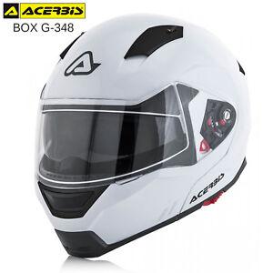 CASCO-MODULARE-ACERBIS-BOX-G-348-APRIBILE-OMOLOGATO-MOTO-SCOOTER-MONO-BIANCO