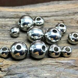 Stainless-Steel-Round-Loose-Metal-Beads-Wholesale-lot-4mm-5mm-6mm-8mm-10mm-12m