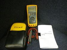 Fluke 189 True RMS Multimeter W/ Case, Manual, & Test Leads *WARRANTY*