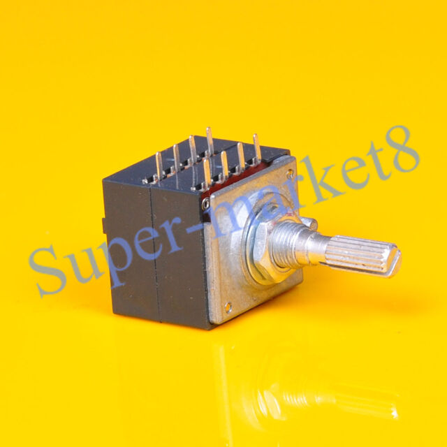 ALPS Stype 100KA LOG Stereo Audio 27 Type Potentiometer Pot Knurl 1pc