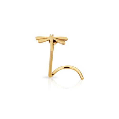 Nose Ring Screw Stud Dragonfly Design 20 Gauge Set of 3