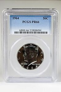 PR66-1964-PCGS-GRADED-KENNEDY-SILVER-HALF-DOLLAR-50C-PROOF-COIN-LIBERTY-US-CASE