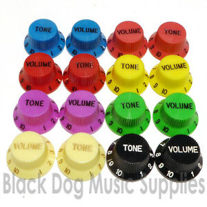 Guitar-knobs-tone-volume-Choice-of-Colour-Strat-Stratocaster-replacment