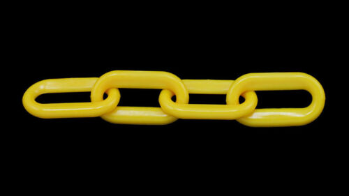 "2/"" Plastic Chain Yellow 50/'//Bag 8MM"
