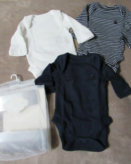 up to 23 in 7-12 lbs babyGap Boy/'s Bodysuit Navy 0-3 mo