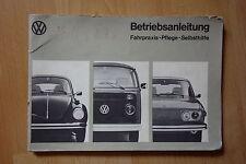VW Betriebsanleitung Teil 2 1973 für Typ 1,2 und 4  August 1973 Käfer- Bus- 412