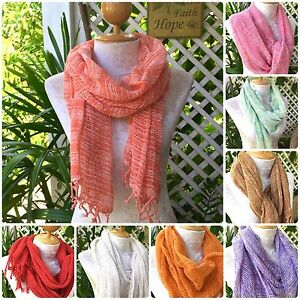Organic-100-Cotton-Hand-Woven-Scarf-Shawl-Handmade-Cotton-Scarfs-Love-Quality