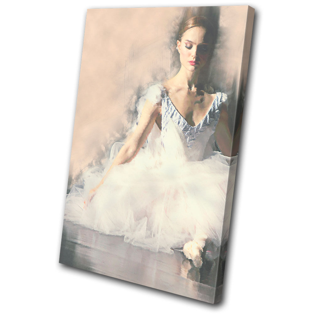 Abstract Ballerina Digi-Painting  SINGLE Leinwand Wand Kunst Bild drucken