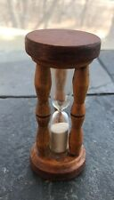 Antique Wooden Sand Glass Timer  Times out at about 3:45 seconds - Hard boil egg