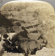 Keystone Stereoview of Lipan Point, Grand Canyon From 1930's Scenic America Set