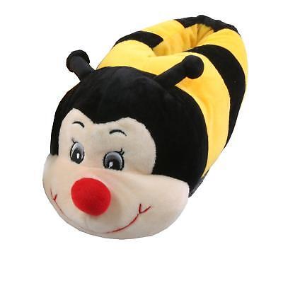 Einfach Biene Tier Hausschuhe Pantoffel Schlappen Kuscheltier Plüsch Kinder Gelb 36-41 Exquisite (In) Verarbeitung
