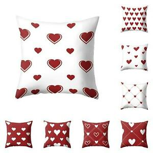 Am-KF-Romantic-Love-Heart-Pillow-Case-Cushion-Cover-Sofa-Bed-Home-Decor-Gift-E