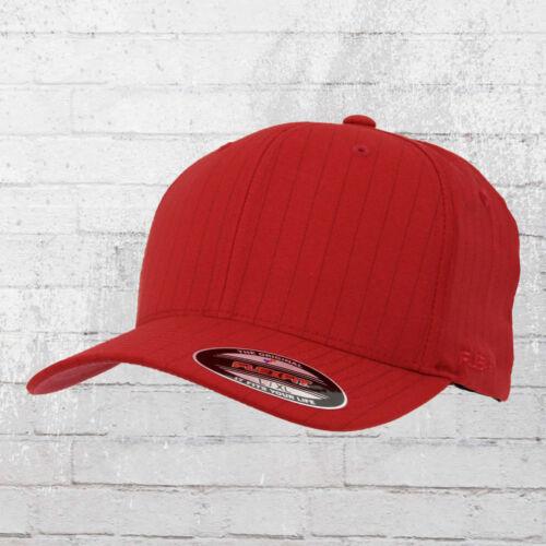 Flexfit Nadelstreifen Cap Pinstripe rot navy Kappe Mütze Haube Capi Basecap Hat