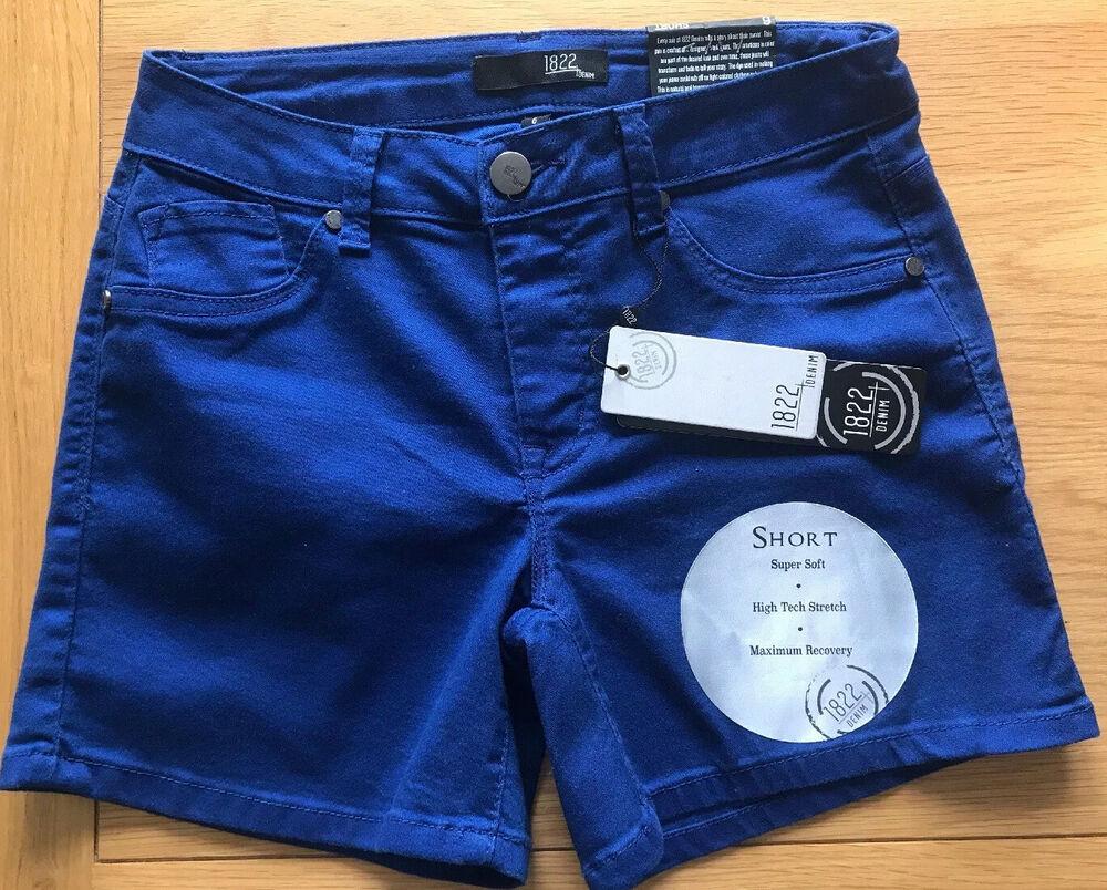 1822 Stretch Shorts Bleu Royal Neuf Avec Étiquettes Taille 10