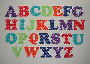 Iron on die cut letters stars buntings quilting applique crafts