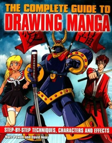 1 of 1 - The Complete Guide to Drawing Manga,Marc Powell & David Neal,Acceptable Book mon