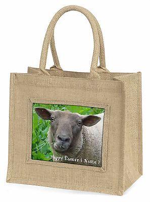 Personalisiert Ostern Schaf Große Natürliche Jute-einkaufstasche Weihnachten,